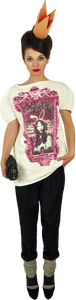 "Princely T-Shirt ""Princess Alice"" in Milk"