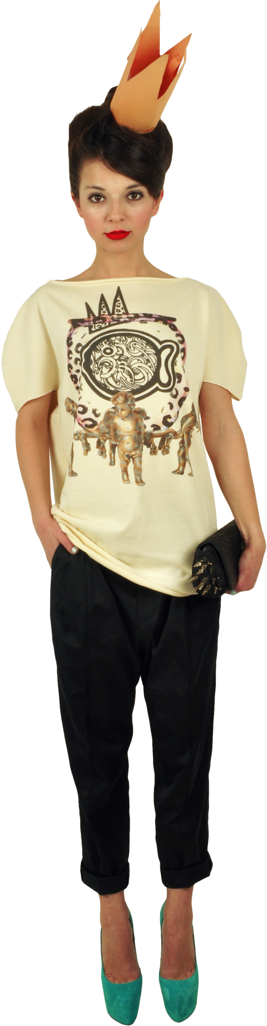 "Princely T-Shirt ""The Gold Digger"" in Vanilla"