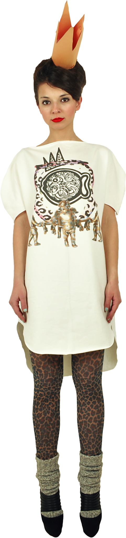 "Long Princely T-Shirt ""The Gold Digger"" in Milk"