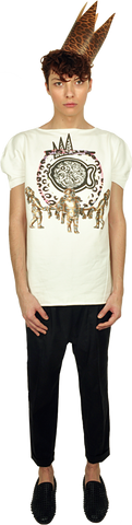 "Princely T-Shirt ""The Gold Digger"" in Milk"