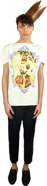 "Princely T-Shirt ""Le Roi Rasta"" in Milk"