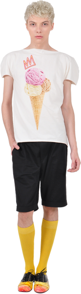 "Princely ""Royal IceCream"" T-shirt in Whip Cream"