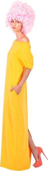"Princely ""Sunset Boulevard"" maxi dress in Yellow"