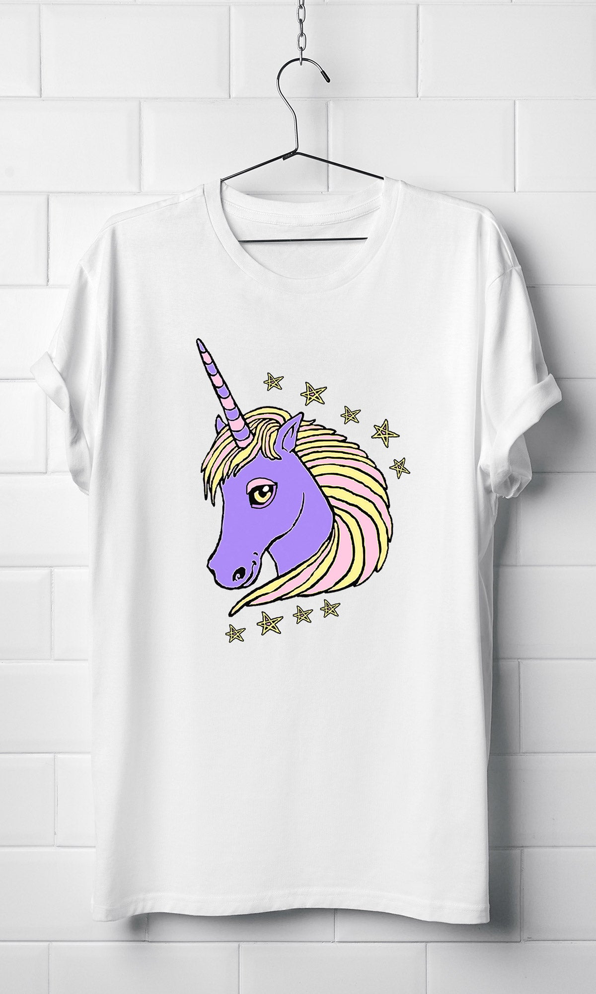 Unicorn drawing purple