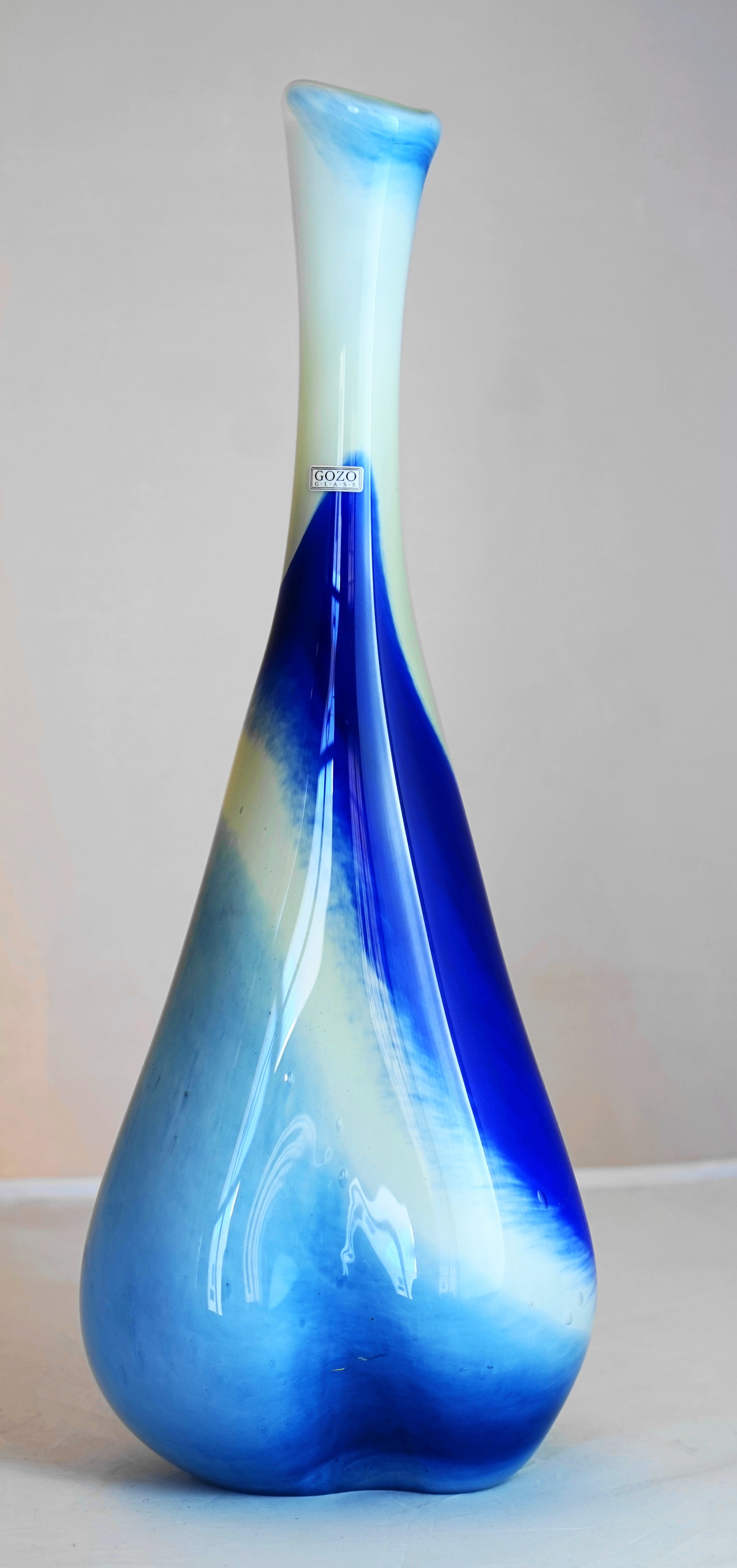 Shades of Blue LIMITED EDITION VASE - ONLY ONE AVAILABLE