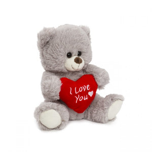 Luna Bear with 'I Love U' Grey