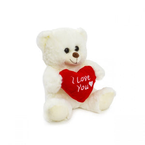 Luna Bear with 'I Love U' White