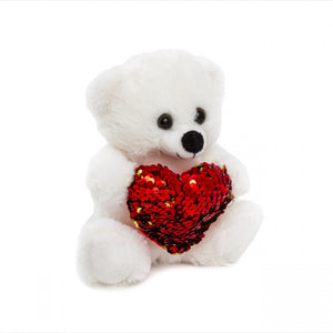 Mia Bear with Red Sequined Heart