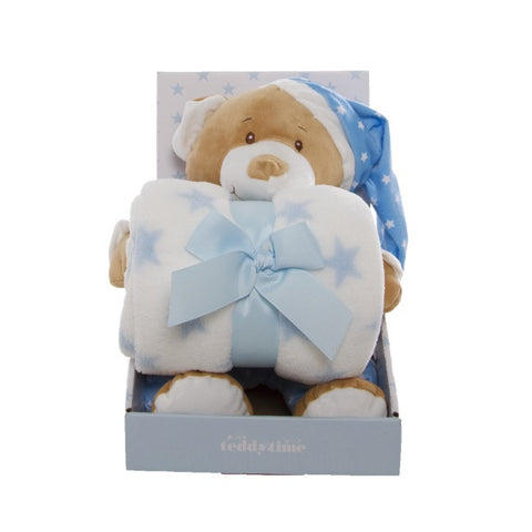 Teddy Bear Gift Pack Bear and Blanket