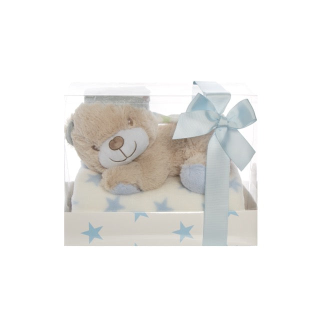 Liam Teddy Bear Gift Pack Blue