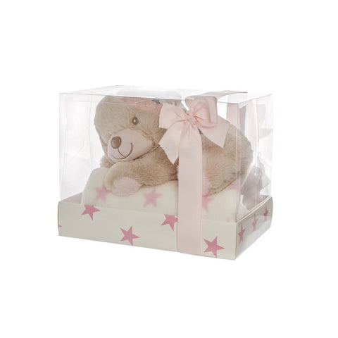 Lily Teddy Bear Gift Pack Pink