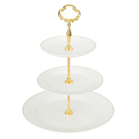 3 Tier Cake Stand Ivory BC