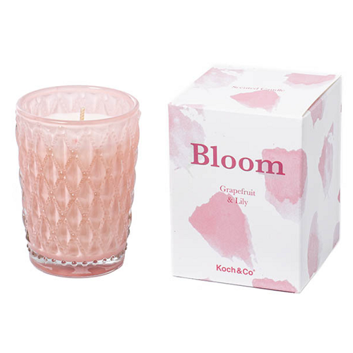 Scented Candle Bloom Dusty Pink Grapefruit Lily (6.5x9cmH)