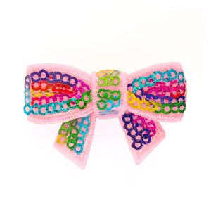 Bows sequin - rainbow