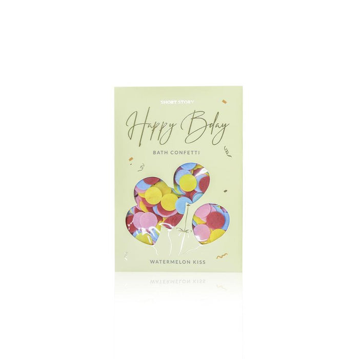 BATH CONFETTI CARD HAPPY BDAY