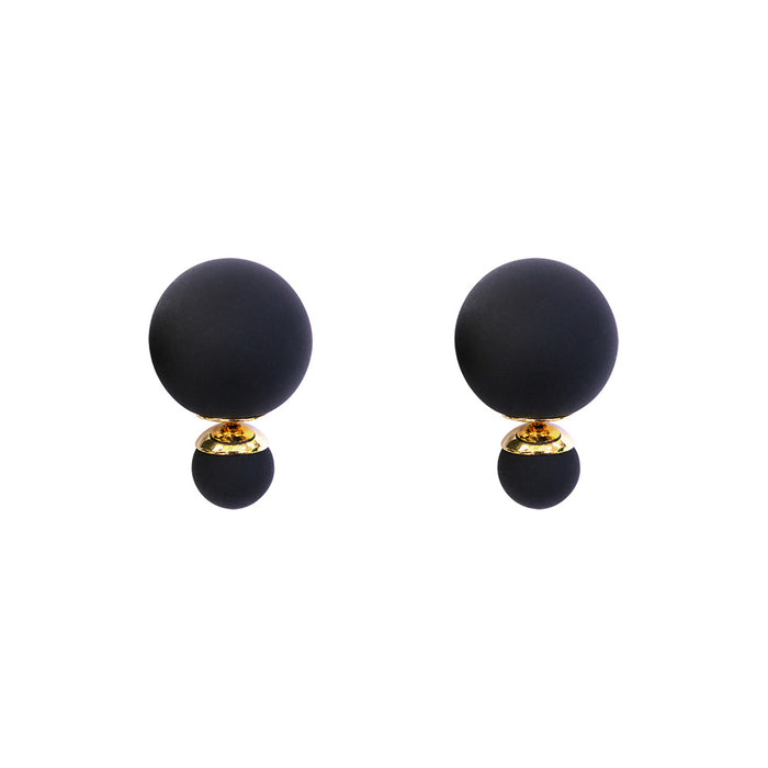Bubble Earrings Black