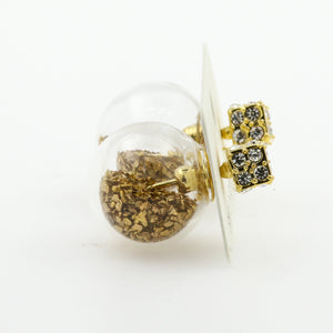 Fantasy Bubble Earrings Confetti Gold