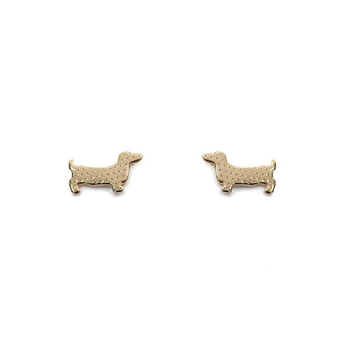 Earring Sausage Dog Gold