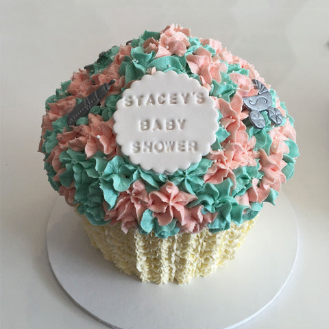 Giant Cupcake Baby Shower