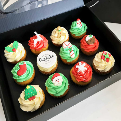 Christmas and Branded Edible Image Cupcakes