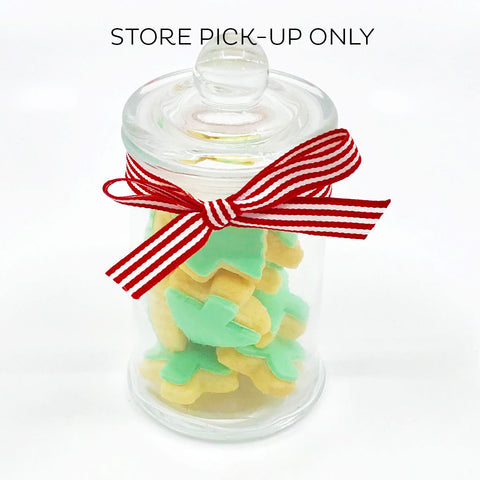 Mini Christmas Tree Cookie Jars