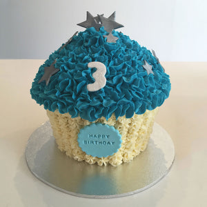Giant Cupcake Shining Star Cake