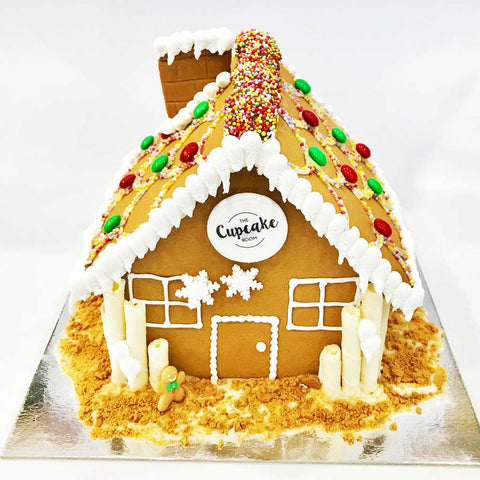 Gingerbread House with Corporate Logo