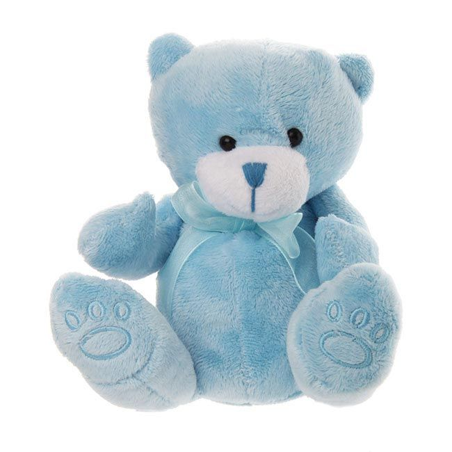 Teddy Bear Baby Paw Print Blue