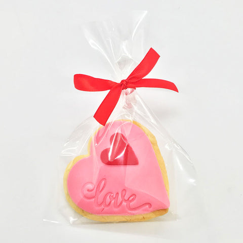 Valentines Love Imprinted Heart Cookie