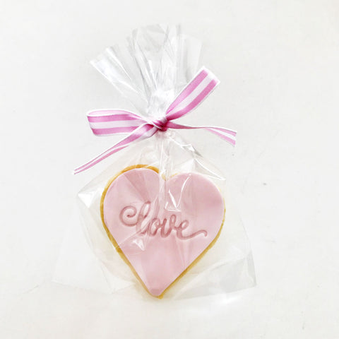 Love Imprinted Heart Cookie