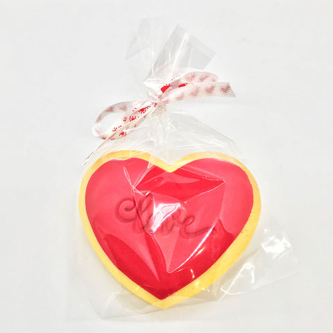 Valentine's Love Red Heart Cookie