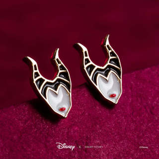 Disney Earring Epoxy Maleficent Face