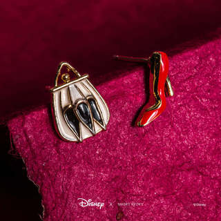 Disney Earring Epoxy Cruella De Vil Bag and Heel