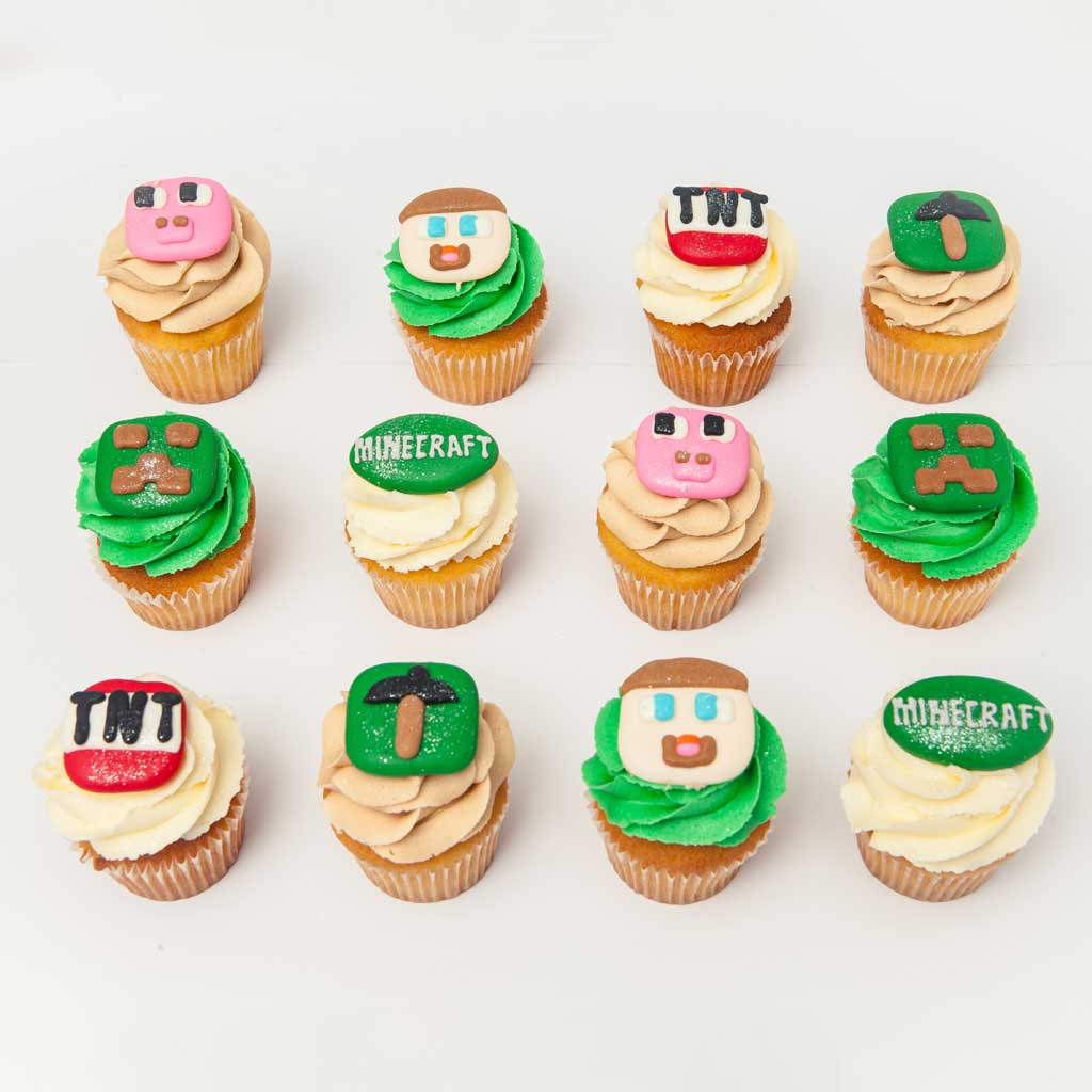 Minecraft Themed Cupcakes For Kids The Cupcake Room