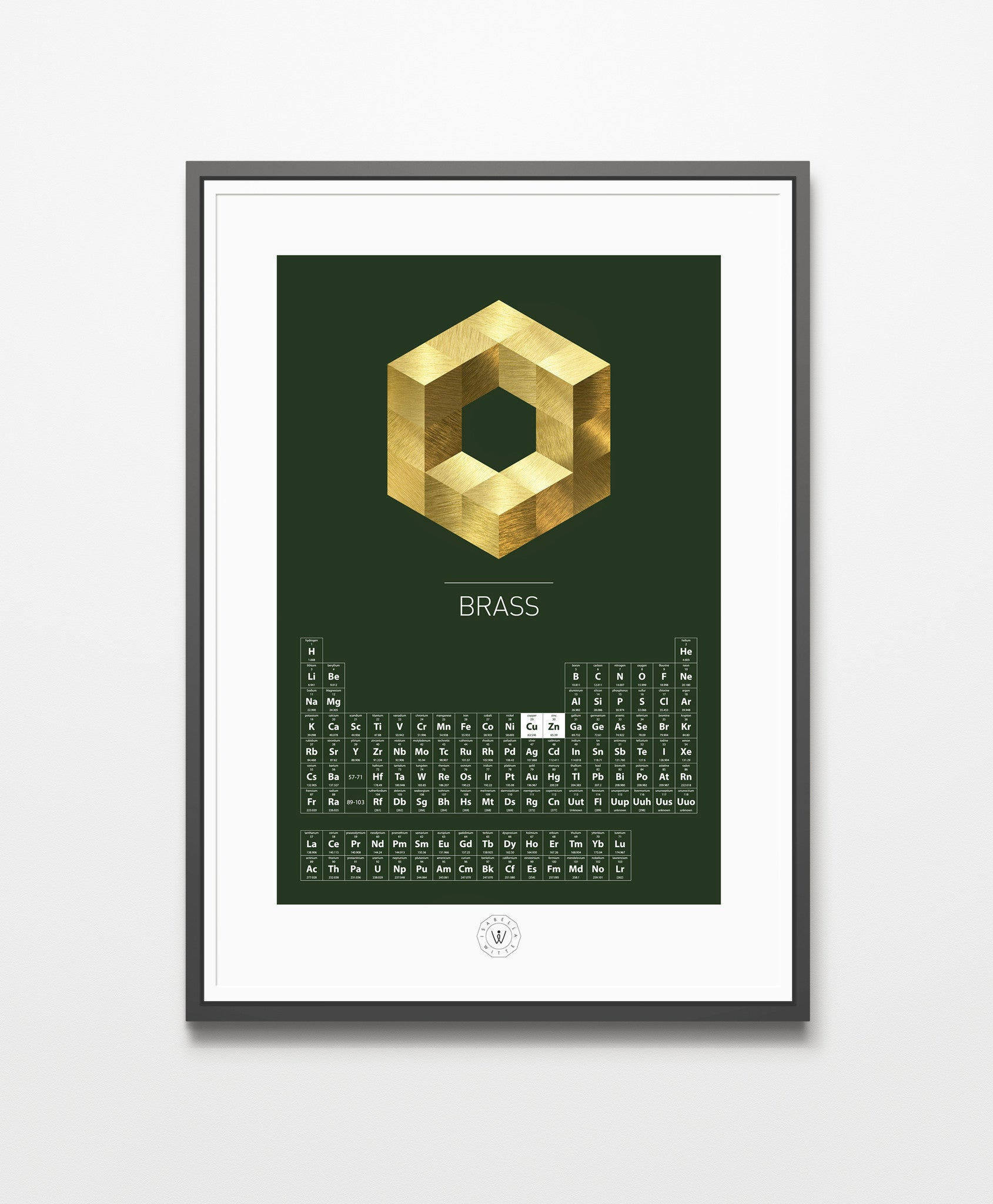 Periodic Table – Brass