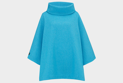 Blue Bird Blanket Poncho