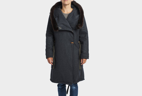 Charcoal Grey Parka Coat