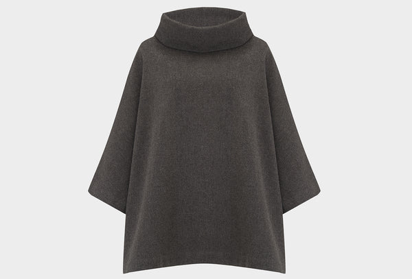 Gull Grey Blanket Poncho