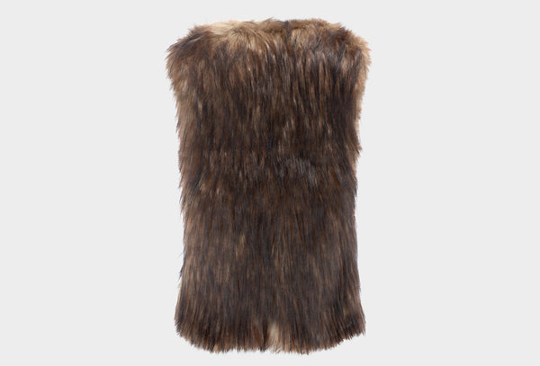 Falcon Tweed and Faux Fur Gilet
