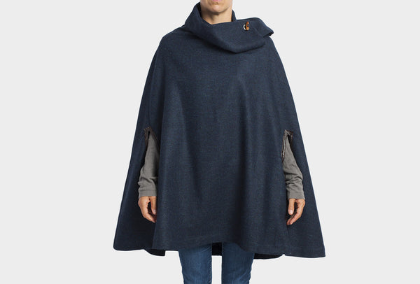 Midnight Blue Long Poncho