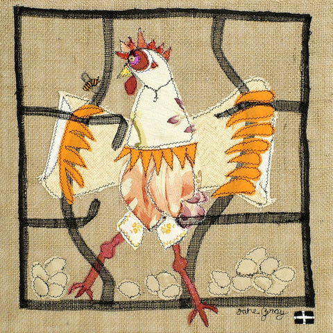 "Giclee Print by Lady Jane Gray - Humorous Chickens ""Free as a Bird"""
