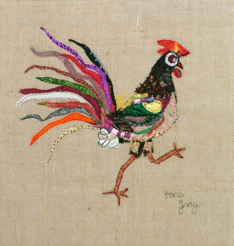 "Giclee Print by Lady Jane Gray - Humorous Chickens ""Hugo"""