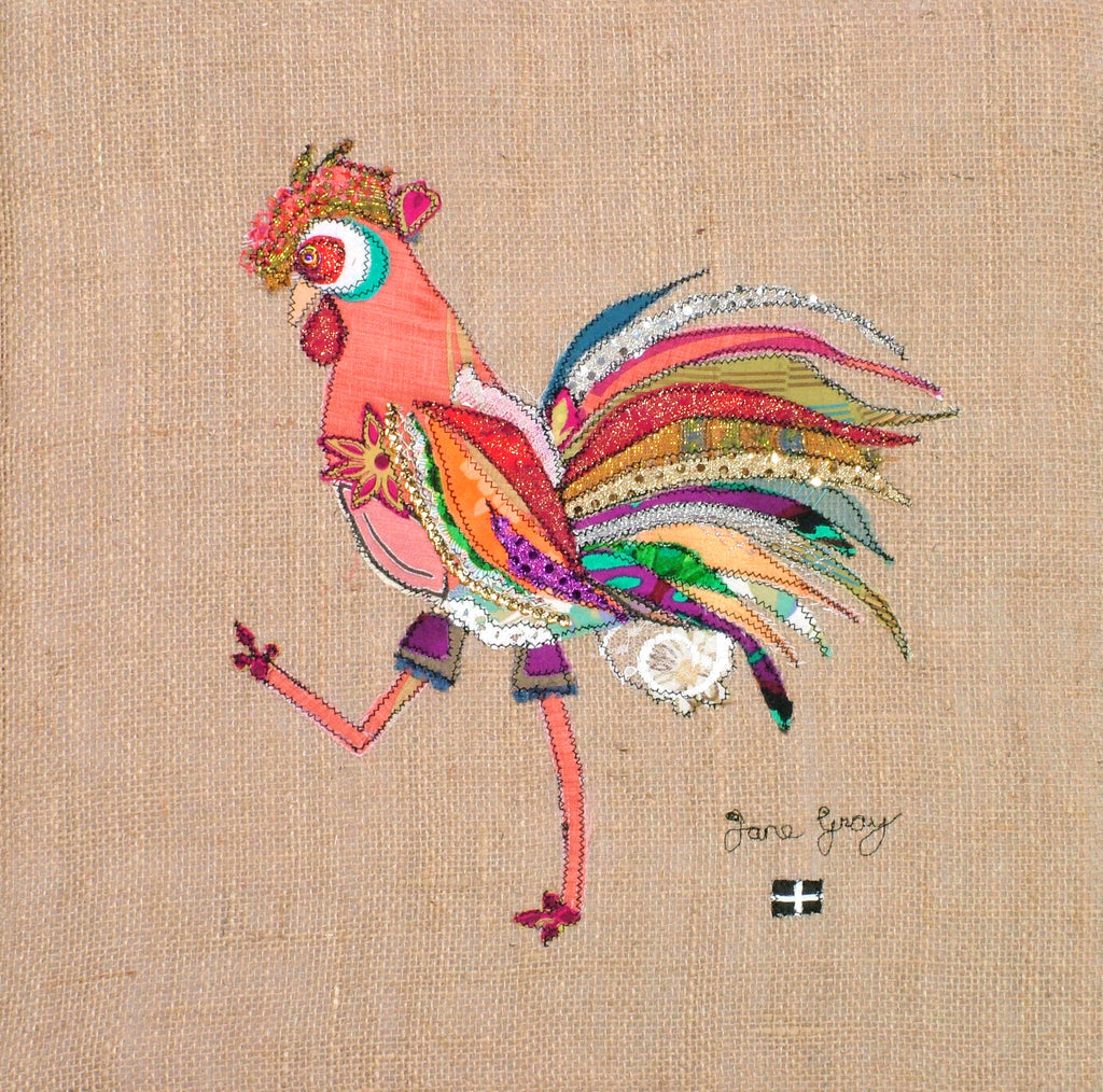 "Giclee Print by Lady Jane Gray - Humorous Chickens ""Lamorwenna"""