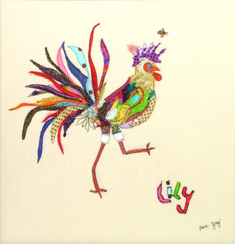 "Giclee Print by Lady Jane Gray - Humorous Chickens ""Lily"""