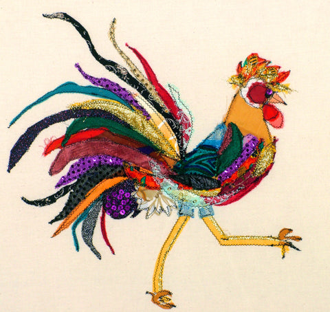"Giclee Print by Lady Jane Gray - Humorous Chickens ""Rosy Posy"""