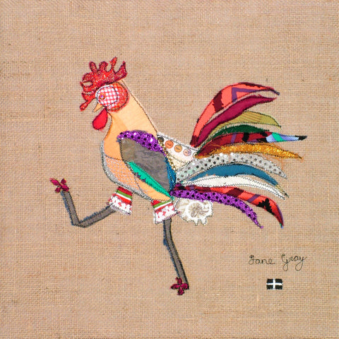 "Giclee Print by Lady Jane Gray - Humorous Chickens ""Treglos"""