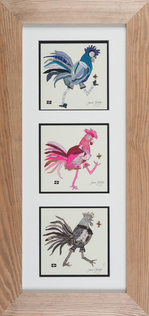 Framed Triptych Giclee Print 002 - 'Rodney, Yvie and Sally' (portrait format)