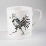 "Limited  Edition China Mug (009) by Lady Jane Gray - Humorous Grey Chicken ""Sally"""