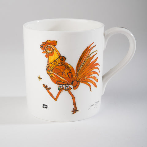 "Limited  Edition China Mug (001) by Lady Jane Gray - Humorous Orange Chicken ""Judy"""