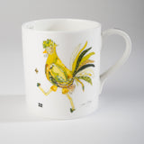 "Limited  Edition China Mug (006) by Lady Jane Gray - Humorous Lime-Green Chicken ""Neil"""